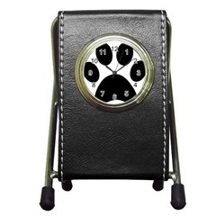 Paw Foot Print Pen Holder Desk Clocks