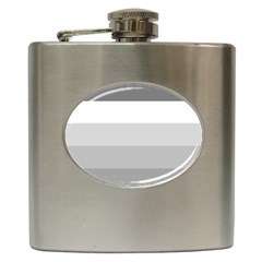 Elegant Shades Of Gray Stripes Pattern Striped Hip Flask (6 Oz) by yoursparklingshop