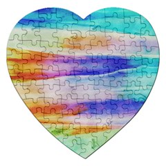 Background Color Splash Jigsaw Puzzle (heart) by goodart