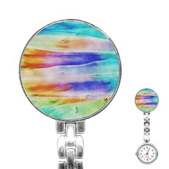 Background Color Splash Stainless Steel Nurses Watch by goodart