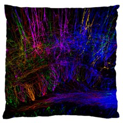 Color Splash Trail Standard Flano Cushion Case (two Sides) by goodart
