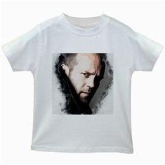 A Tribute To Jason Statham Kids White T Shirts by Naumovski