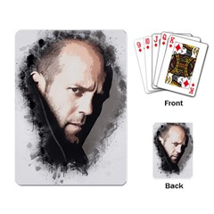 A Tribute To Jason Statham Playing Card by Naumovski