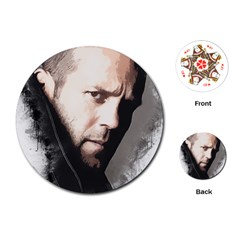 A Tribute To Jason Statham Playing Cards (round)  by Naumovski