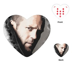 A Tribute To Jason Statham Playing Cards (heart)  by Naumovski