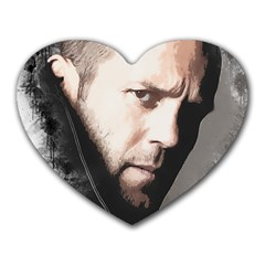 A Tribute To Jason Statham Heart Mousepads by Naumovski