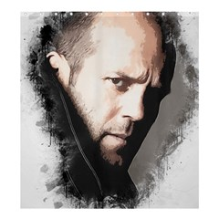 A Tribute To Jason Statham Shower Curtain 66  X 72  (large)  by Naumovski