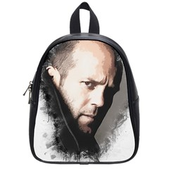 A Tribute To Jason Statham School Bag (small) by Naumovski