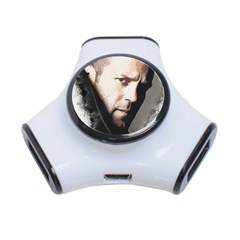 A Tribute To Jason Statham 3 Port Usb Hub by Naumovski