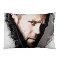 A Tribute To Jason Statham Pillow Case (two Sides) by Naumovski