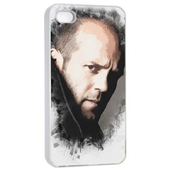 A Tribute To Jason Statham Apple Iphone 4/4s Seamless Case (white) by Naumovski