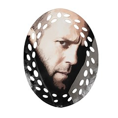 A Tribute To Jason Statham Oval Filigree Ornament (two Sides) by Naumovski