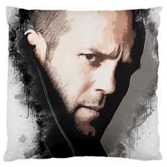 A Tribute To Jason Statham Large Cushion Case (two Sides) by Naumovski