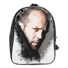A Tribute To Jason Statham School Bag (xl) by Naumovski