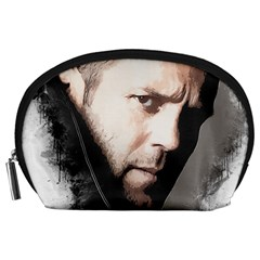 A Tribute To Jason Statham Accessory Pouches (large)  by Naumovski
