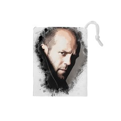 A Tribute To Jason Statham Drawstring Pouches (small)  by Naumovski