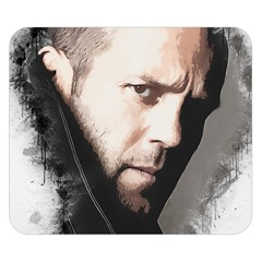 A Tribute To Jason Statham Double Sided Flano Blanket (small)  by Naumovski