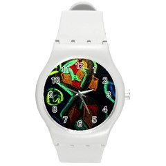 Girls Curiousity 12 Round Plastic Sport Watch (m) by bestdesignintheworld
