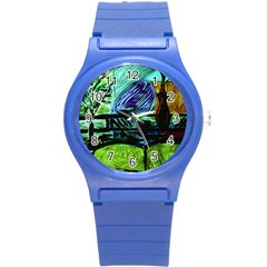 House Will Be Built Round Plastic Sport Watch (s) by bestdesignintheworld