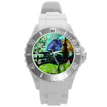House Will Be Built Round Plastic Sport Watch (L) Front