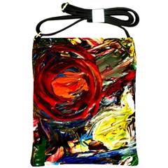 Sunset In A Mountains Shoulder Sling Bags by bestdesignintheworld