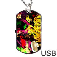 Spooky Attick 1 Dog Tag Usb Flash (two Sides) by bestdesignintheworld