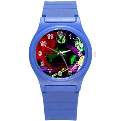 Spooky Attick 4 Round Plastic Sport Watch (s) by bestdesignintheworld