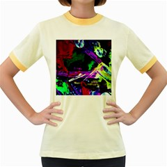 Spooky Attick 5 Women s Fitted Ringer T-shirts by bestdesignintheworld