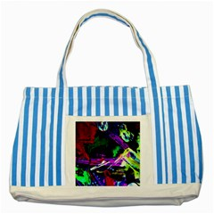 Spooky Attick 5 Striped Blue Tote Bag by bestdesignintheworld