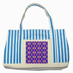 Artwork By Patrick Colorful 33 Striped Blue Tote Bag by ArtworkByPatrick
