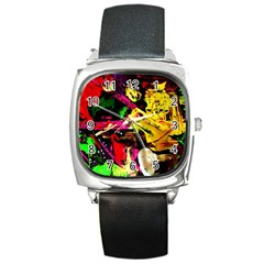 Spooky Attick 11 Square Metal Watch by bestdesignintheworld