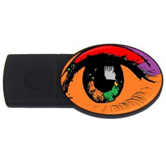 Eyes Makeup Human Drawing Color Usb Flash Drive Oval (4 Gb) by Simbadda