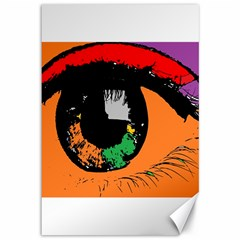 Eyes Makeup Human Drawing Color Canvas 12  X 18