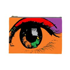 Eyes Makeup Human Drawing Color Cosmetic Bag (large)
