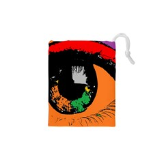 Eyes Makeup Human Drawing Color Drawstring Pouches (xs)