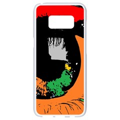 Eyes Makeup Human Drawing Color Samsung Galaxy S8 White Seamless Case