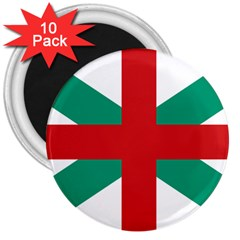 Naval Jack Of Bulgaria 3  Magnets (10 Pack)  by abbeyz71