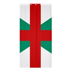 Naval Jack Of Bulgaria Shower Curtain 36  X 72  (stall)  by abbeyz71