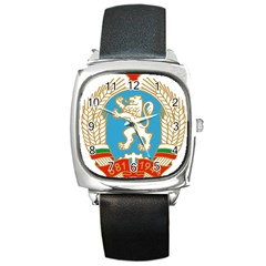 Coat Of Arms Of People s Republic Of Bulgaria, 1971 1990 Square Metal Watch by abbeyz71