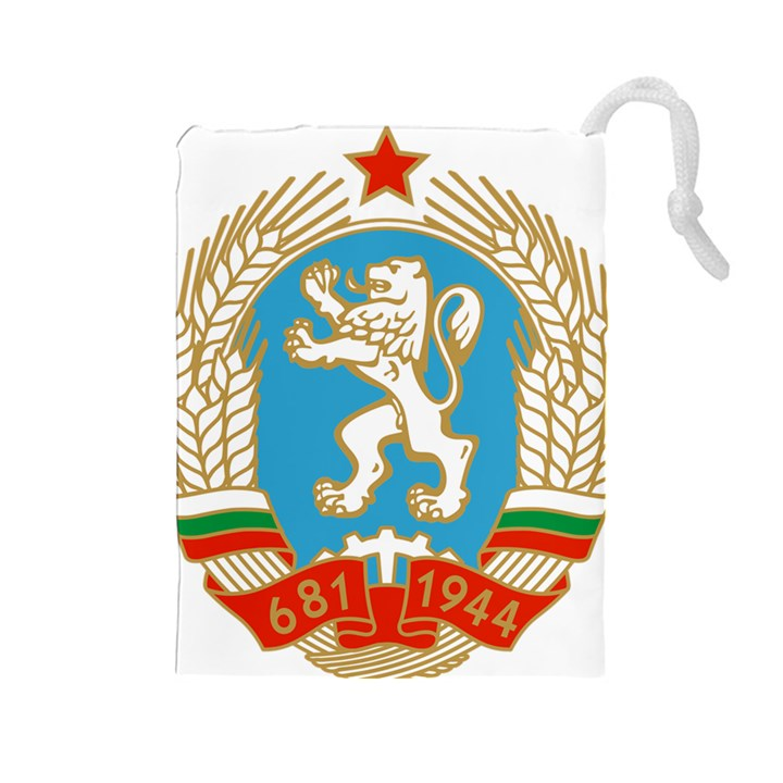 Coat of Arms of People s Republic of Bulgaria, 1971-1990 Drawstring Pouches (Large)