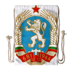 Coat Of Arms Of People s Republic Of Bulgaria, 1971 1990 Drawstring Bag (large) by abbeyz71