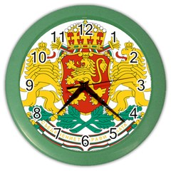 Coat Of Arms Of Bulgaria Color Wall Clocks by abbeyz71