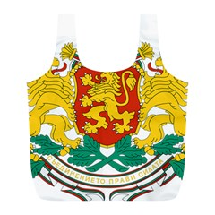 Coat Of Arms Of Bulgaria Full Print Recycle Bags (l)  by abbeyz71