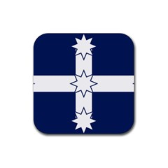 Eureka Flag Rubber Square Coaster (4 Pack)  by abbeyz71
