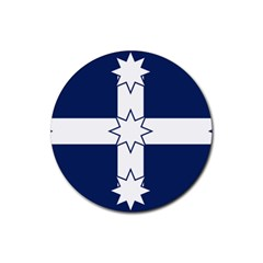 Eureka Flag Rubber Round Coaster (4 Pack)  by abbeyz71