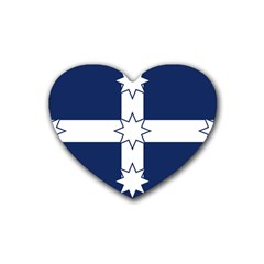 Eureka Flag Heart Coaster (4 Pack)  by abbeyz71