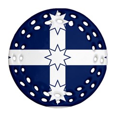Eureka Flag Ornament (round Filigree) by abbeyz71