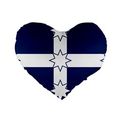 Eureka Flag Standard 16  Premium Heart Shape Cushions by abbeyz71