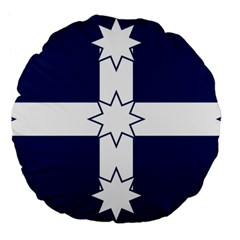Eureka Flag Large 18  Premium Flano Round Cushions by abbeyz71
