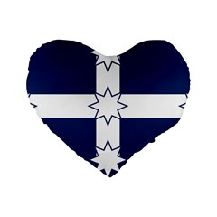 Eureka Flag Standard 16  Premium Flano Heart Shape Cushions by abbeyz71